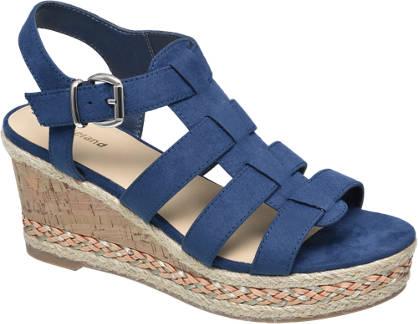 Graceland Keil Sandalette blau