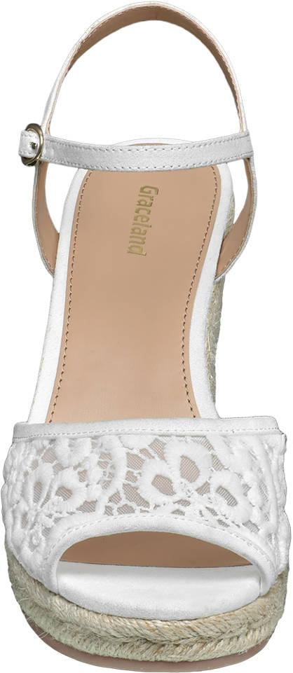 Graceland Keil Sandalette creme