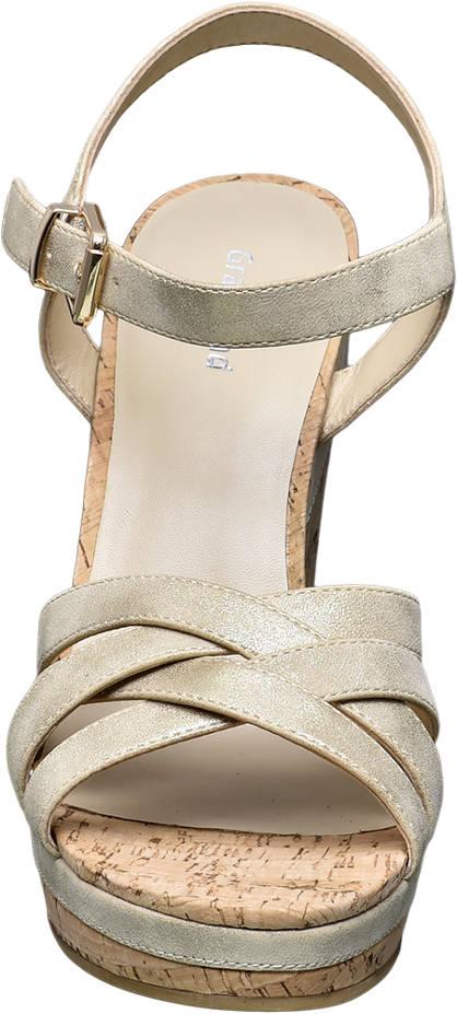 Graceland Keil Sandalette gold