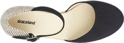Graceland Keil Sandalette beige, schwarz