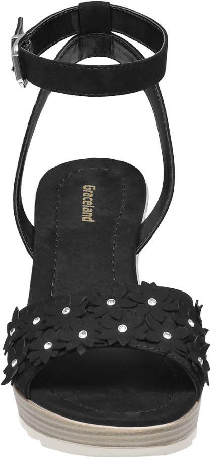 Graceland Keil Sandalette schwarz