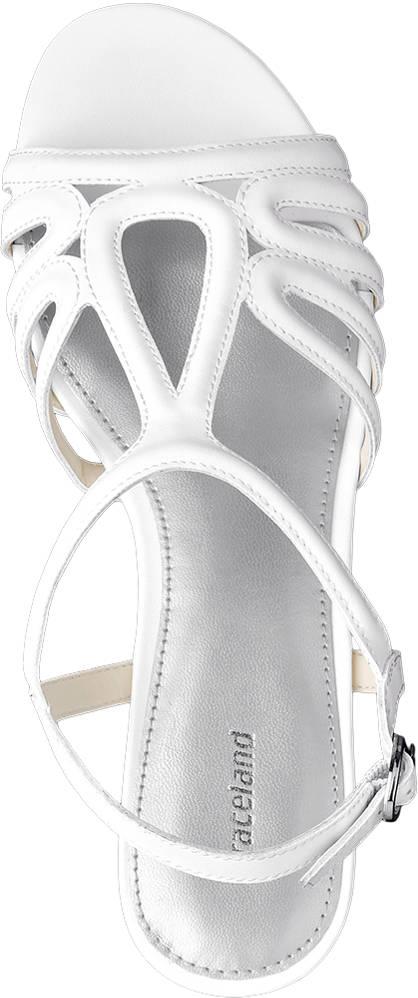 Graceland Keil Sandalette weiß