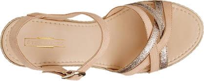 5th Avenue Keil Sandalette champagner