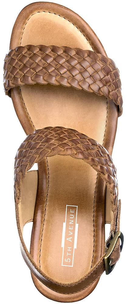 5th Avenue Keil Sandalette braun