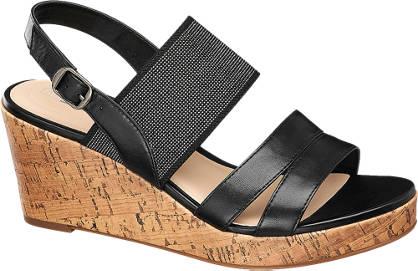 5th Avenue Keil Sandalette schwarz