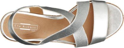 5th Avenue Keil Sandalette silber