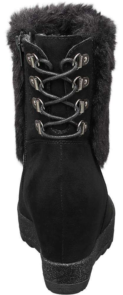 Catwalk Keil Stiefelette schwarz