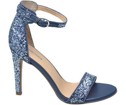 Graceland Kék flitteres alkalmi szandál