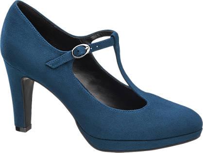 Graceland Kék pántos körömcipő