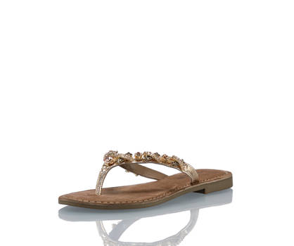 Lazamani Lazamani Damen Flache Sandalette