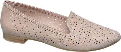 Graceland Lézervágott strasszos loafer