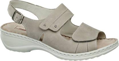 Medicus Grijze leren sandaal klittenband