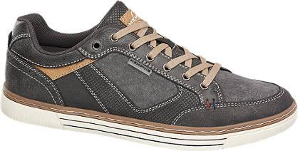 Memphis One Grijze sneaker wafelprint