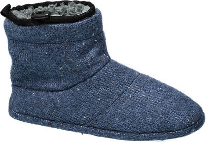 Mens Knitted Boot Slippers