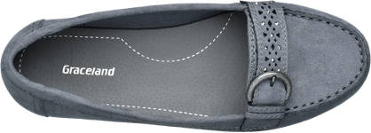 Graceland Mokassin grau