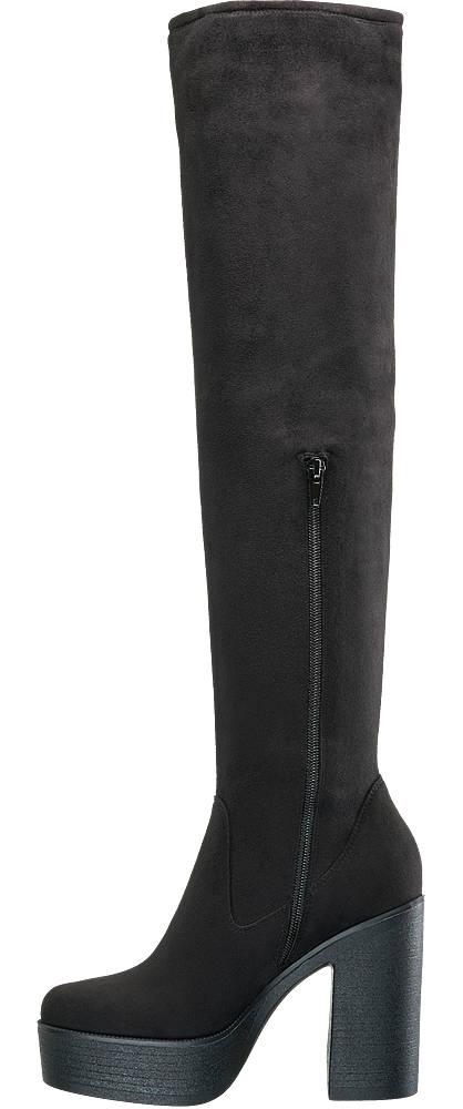 Catwalk Overknee Stiefel schwarz