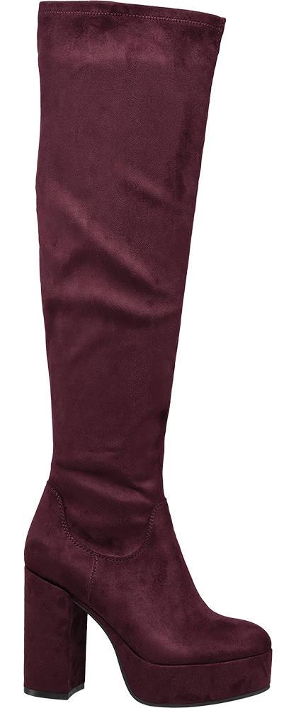Catwalk Overknee burgunder