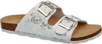 Björndal Pantolette  weiß, silber