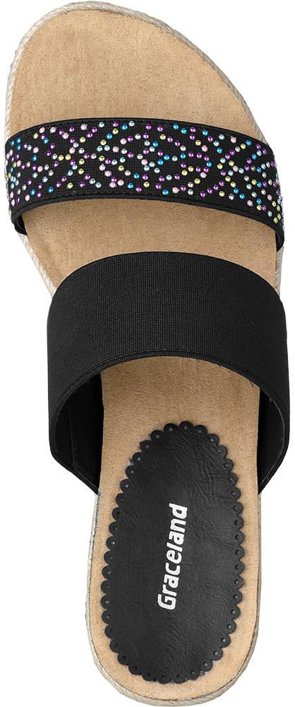 Graceland Pantolette  schwarz