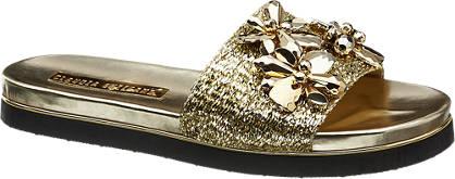 Blue Fin Pantolette gold