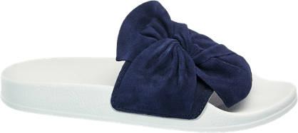 5th Avenue Pantolette blau, weiß