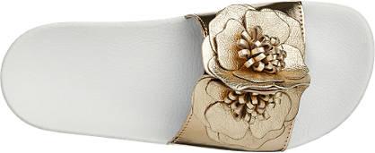 5th Avenue Pantolette gold, weiß