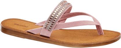 Graceland Pink lábujjközi papucs