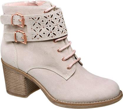 Catwalk Plitke čizme na pertlanje