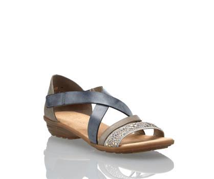 Rieker Rieker Damen Flache Sandalette