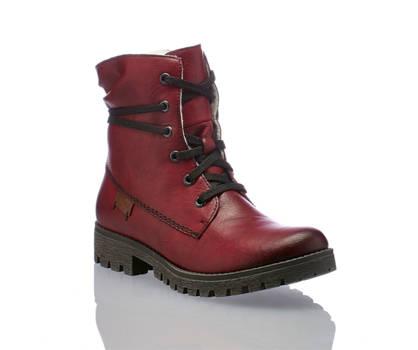 Rieker Rieker boot à lacet femmes rouge