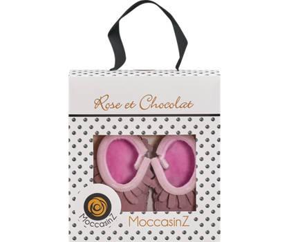 Rose & Chocolat Rose & Chocolat mocassin boot filles rose vif