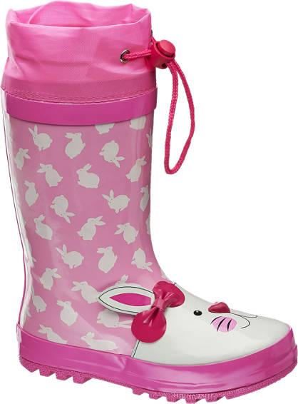 Cortina Rózsaszín nyuszis gumicsizma