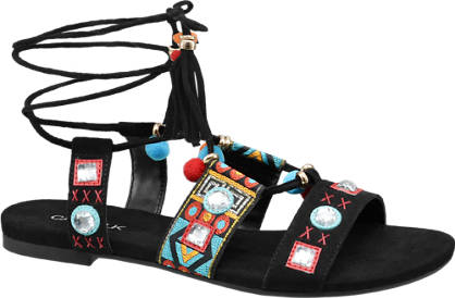 Catwalk Sandale  schwarz, multicolor