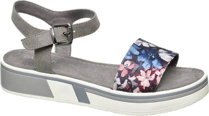 Catwalk Sandale grau, blau, rot