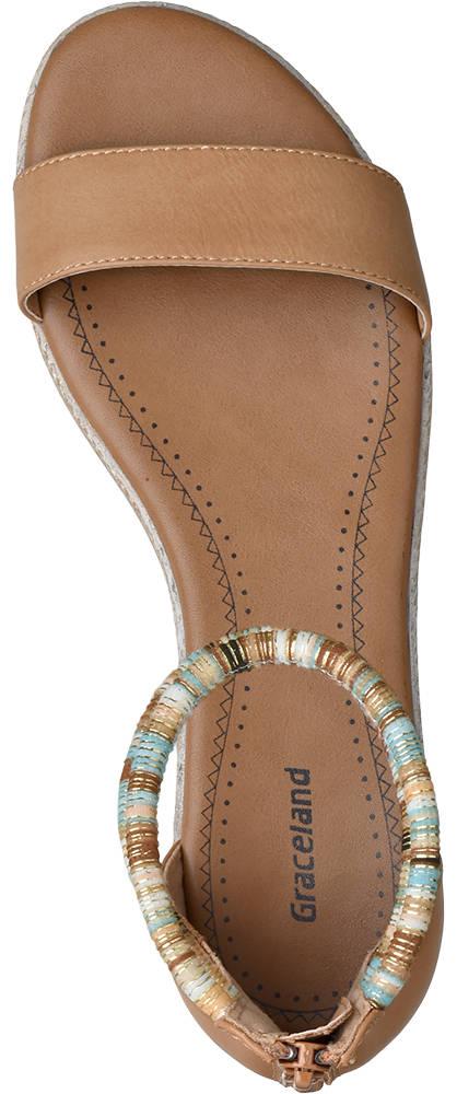 Graceland Sandale braun