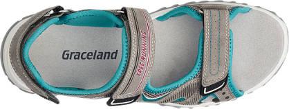 Graceland Sandale grau, blau