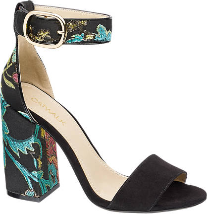 Catwalk Sandalette  schwarz, türkis