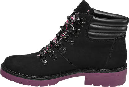 Catwalk Schnürboots schwarz, pink