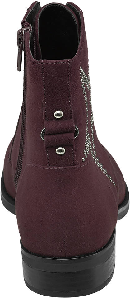 Ellie Star Collection Schnürstiefelette bordeaux