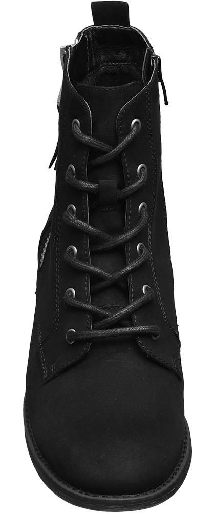 Graceland Schnürstiefelette schwarz