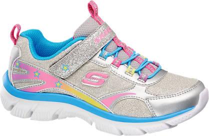 Skechers Grijze lightweight sneaker glitters