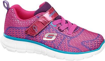 Skechers Roze lightweight sneaker klittenband