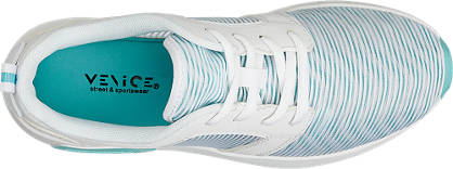 Venice Sneaker  türkis, weiß