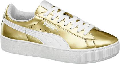 Puma Sneaker VIKKY PLATFORM METALLIC gold, weiß