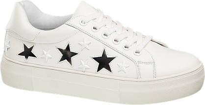 Catwalk Sneaker weiß, silber