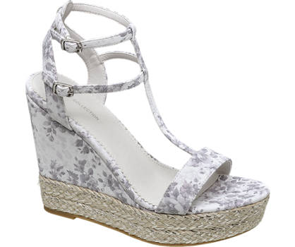 Star Collection Floral Wedge Sandals
