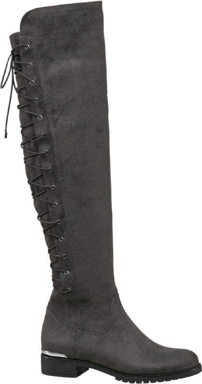 Star Collection Tie Up Knee High Boot