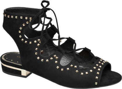 Star Collection Studded Lace-up Sandals