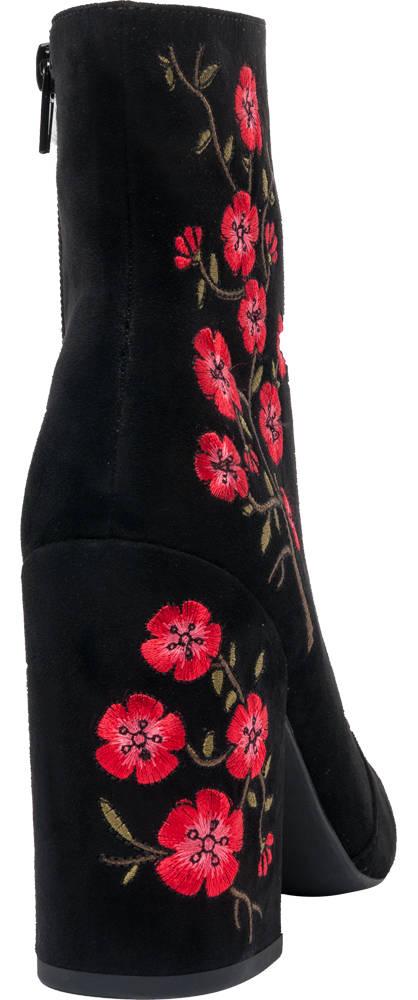 Catwalk Stiefelette schwarz, rot, grün