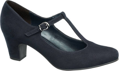 Graceland T-Spangen Pumps blau
